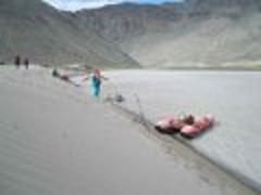 Дюны перед ущельем